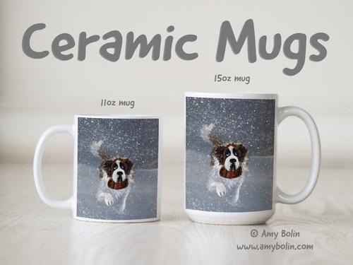 """""""Into The Storm"""" Saint Bernard Ceramic Mug 11oz or 15oz"""