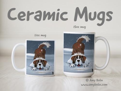 """""""Let's Play"""" Saint Bernard Ceramic Mug 11oz or 15oz"""
