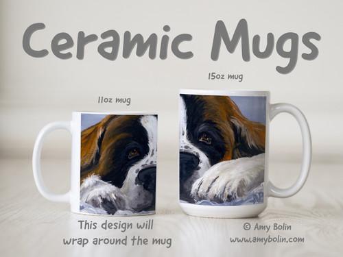 """""""One Big Pout"""" Saint Bernard Ceramic Mug 11oz or 15oz"""
