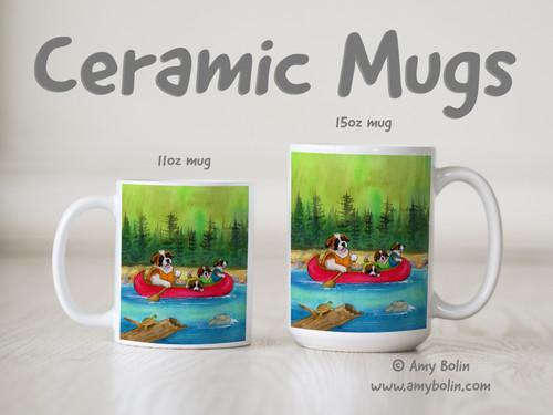 """Saints On The River"" Saint Bernard Ceramic Mug 11oz or 15oz"