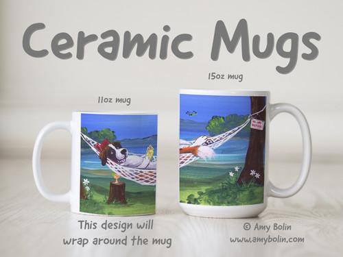 """""""The Best Summer Ever"""" Saint Bernard Ceramic Mug 11oz or 15oz"""