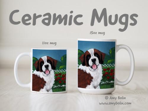 """Winners Circle"" Saint Bernard Ceramic Mug 11oz or 15oz"