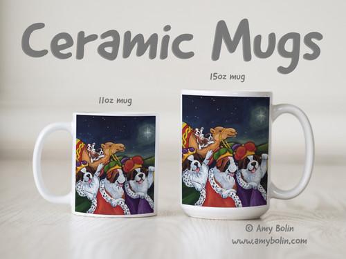 """""""Wise Saints"""" Saint Bernard Ceramic Mug 11oz or 15oz"""