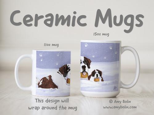 """""""Zeus & Ursa"""" Saint Bernard Ceramic Mug 11oz or 15oz"""