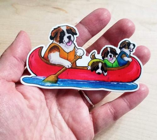 """""""Saints On The River"""" Saint Bernard Decal / Sticker"""