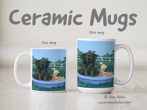 """Bathing Beauties"" Brown Newfoundland Ceramic Mug 11oz or 15oz"