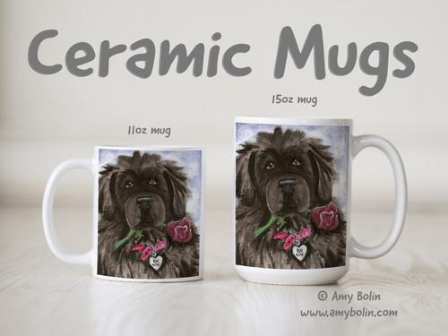 """""""Be Mine"""" Black Newfoundland Ceramic Mug 11oz or 15oz"""