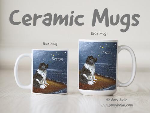 """""""Dream"""" Landseer Newfoundland Ceramic Mug 11oz or 15oz"""