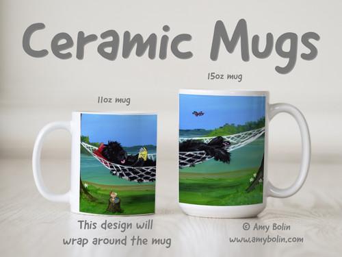 """""""This Is The Life"""" Black Newfoundland Ceramic Mug 11oz or 15oz"""