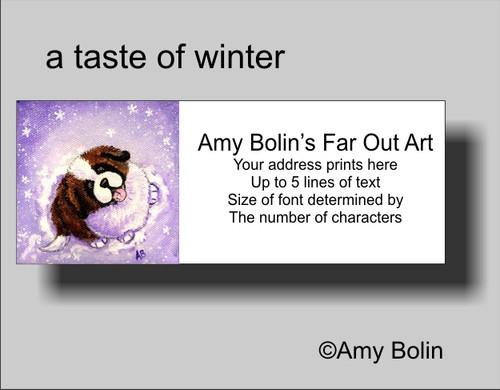 """""""A Taste Of Winter"""" Saint Bernard Address Labels"""