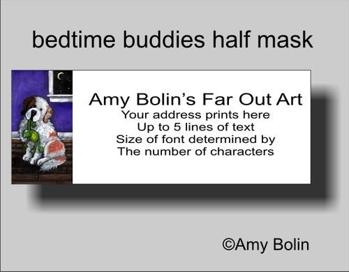 """Bedtime Buddies Half Mask"" Saint Bernard Address Labels"