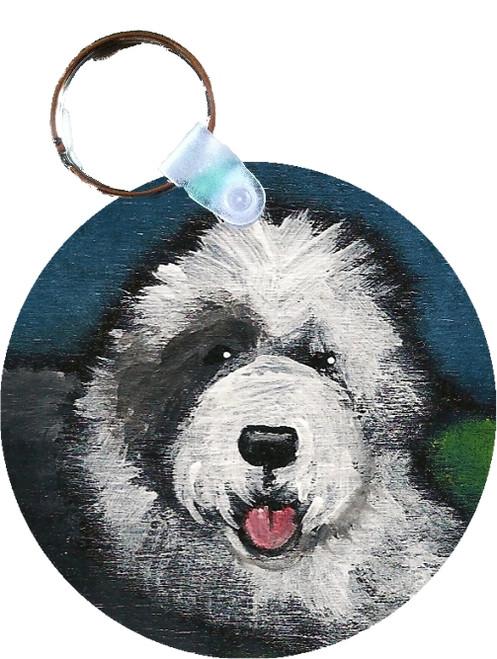 """Toby"" Old English Sheepdog Keychain"