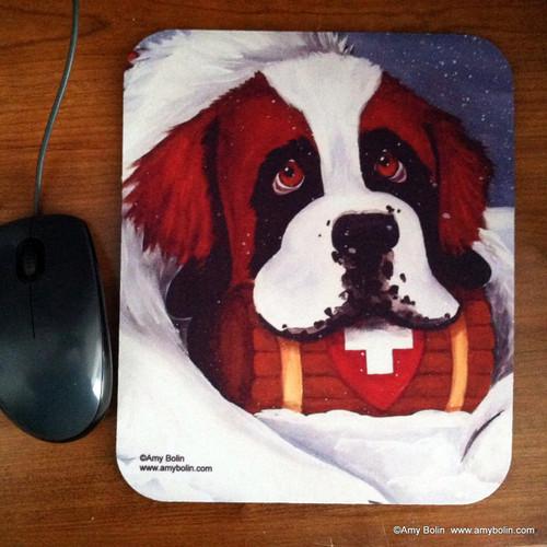 """Break Time"" Saint Bernard Mouse Pad"
