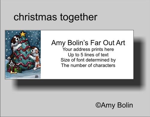 """""""Christmas Together"""" Saint Bernard Address Labels"""