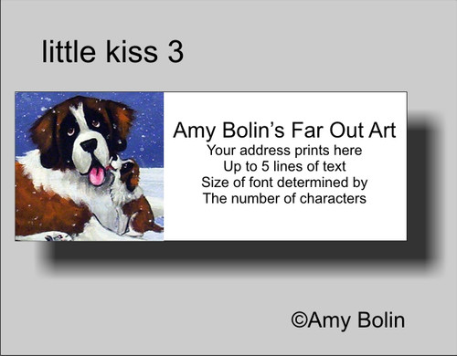 """Little Kiss 3"" Saint Bernard Address Labels"