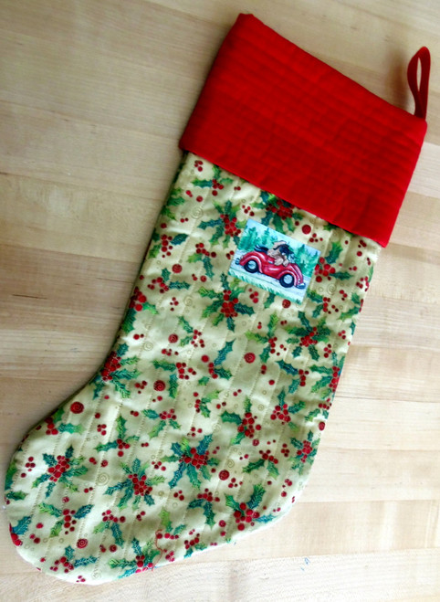 Quilted Christmas Stocking Leonberger   By Dawn Johnson