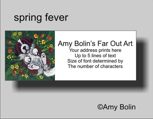 """Spring Fever"" Saint Bernard Address Labels"