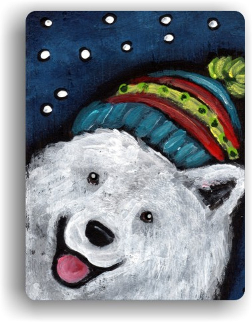 """Snowy Weather"" Samoyed Magnet"