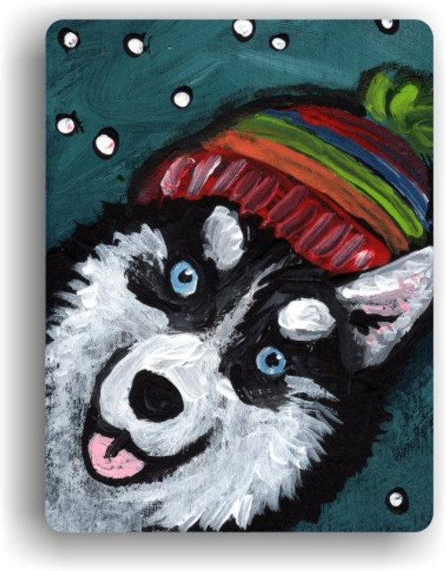 """Snowy Weather"" Siberian Husky Magnet"