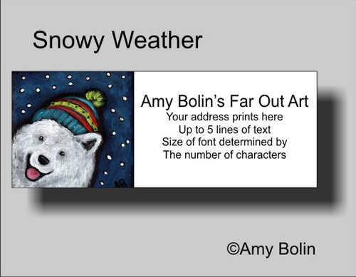 """Snowy Weather"" Samoyed Address Labels"