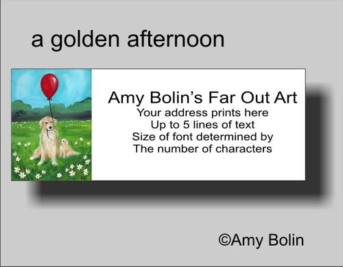 """""""A Golden Afternoon"""" Golden Retriever Address Labels"""