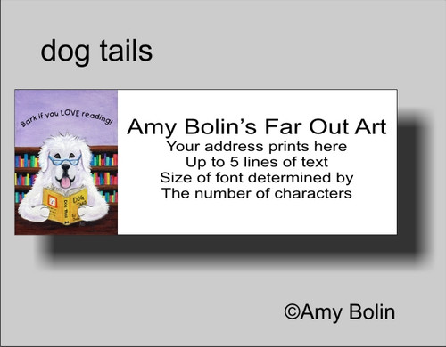 """""""Dog Tails Vol 2"""" Great Pyrenees Address Labels"""