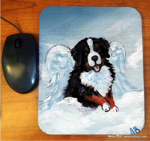 """""""My Sweet Angel"""" Bernese Mountain Dog Mouse Pad"""