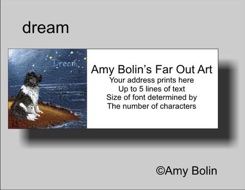 """""""Dream"""" Landseer Newfoundland Address Labels"""