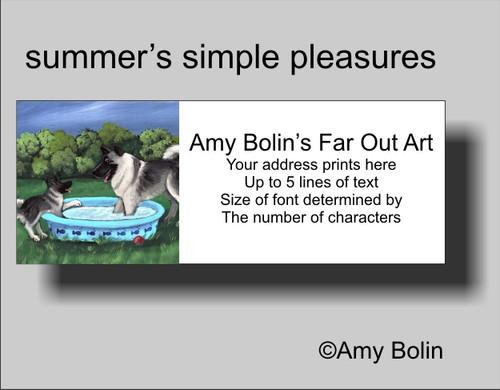 """""""Summer's Simple Pleasures"""" Norwegian Elkhound Address Labels"""