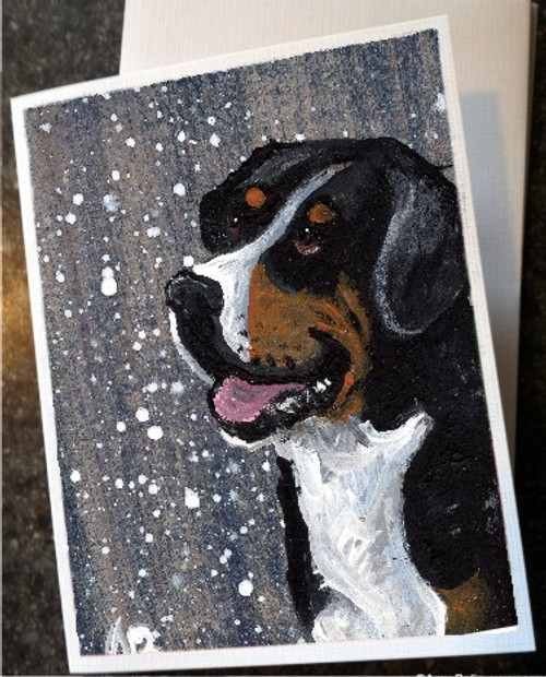 """""""Swissy"""" Greater Swiss Mountain Dog Note Cards"""