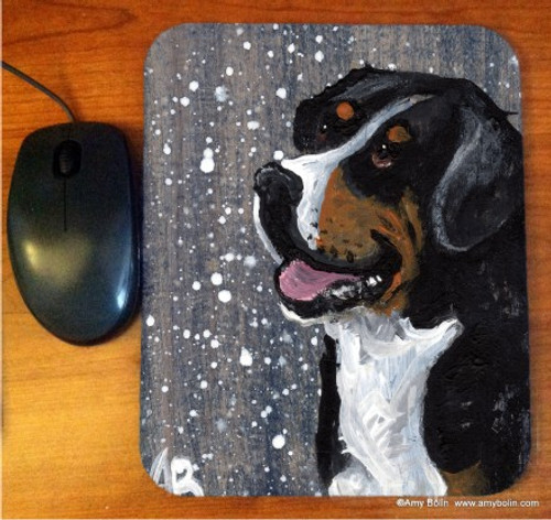"""""""Swissy"""" Greater Swiss Mountain Dog Mouse Pad"""
