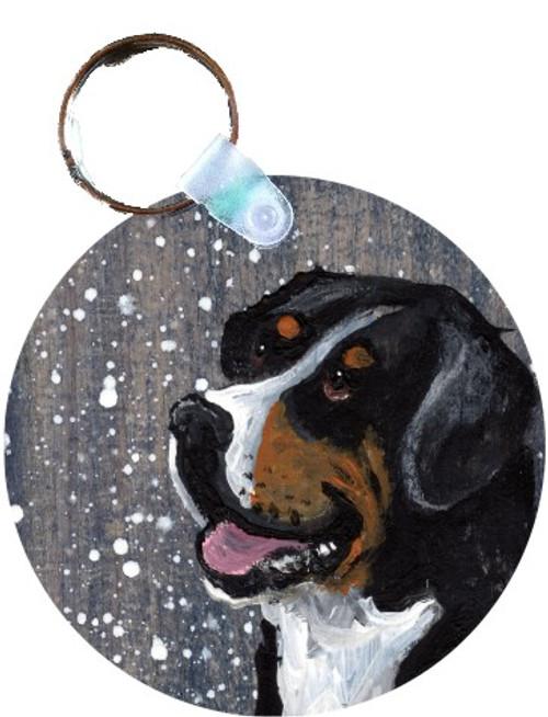 """""""Swissy"""" Greater Swiss Mountain Dog Keychain"""