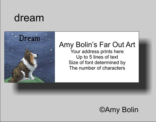"""Dream"" Sable Shetland Sheepdog Address Labels"