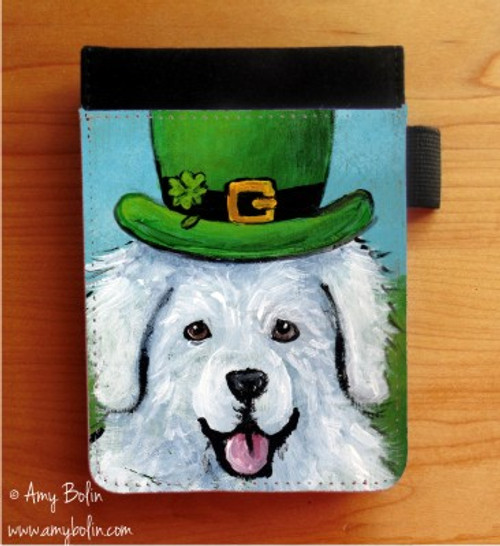 """A Big, Wet Irish Kiss"" Great Pyrenees Notebooks (several sizes available)"