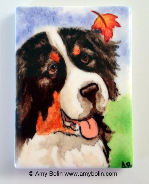 """Autumn Berner"" Bernese Mountain Dog Magnet"