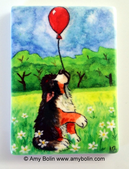 """Fly Away"" Bernese Mountain Dog Magnet"