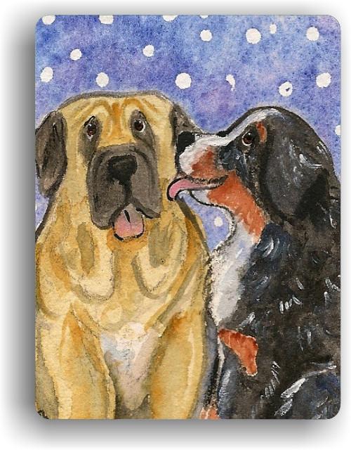 """Little Kiss"" Bernese Mountain Dog, Mastiff Magnet"