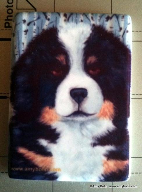 """Puppy Eyes"" Bernese Mountain Dog Magnet"