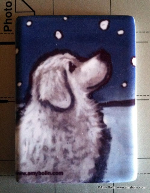 """""""Counting Snowflakes"""" Great Pyrenees Magnet"""