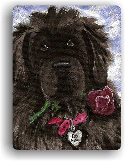 MAGNET · BE MINE · BLACK  NEWFOUNDLAND · AMY BOLIN