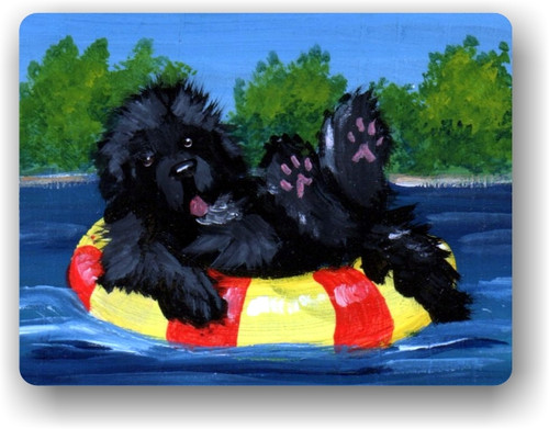 """Dog Days"" Black Newfoundland Magnet"