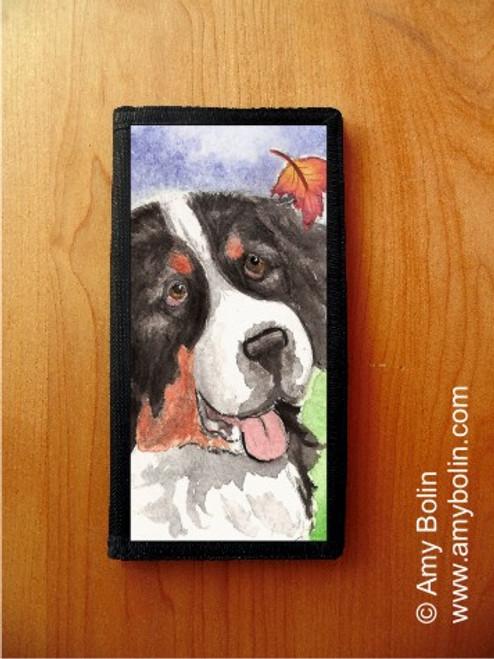 CHECKBOOK COVER · AUTUMN BERNER · BERNESE MOUNTAIN DOG · AMY BOLIN