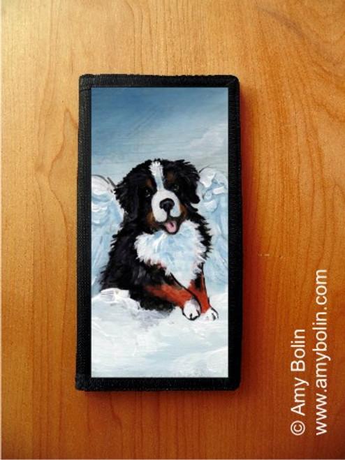 """My Sweet Angel"" Bernese Mountain Dog Checkbook Cover"