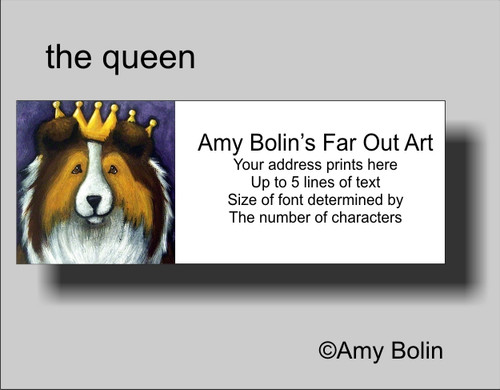 """The Queen"" Sable Shetland Sheepdog Address Labels"