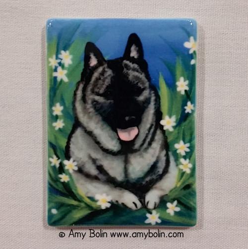 """""""Daisies 1"""" Norwegian Elkhound Magnet"""