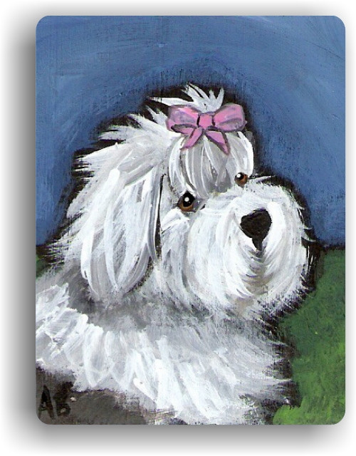 """All Gussied Up"" Old English Sheepdog Magnet"