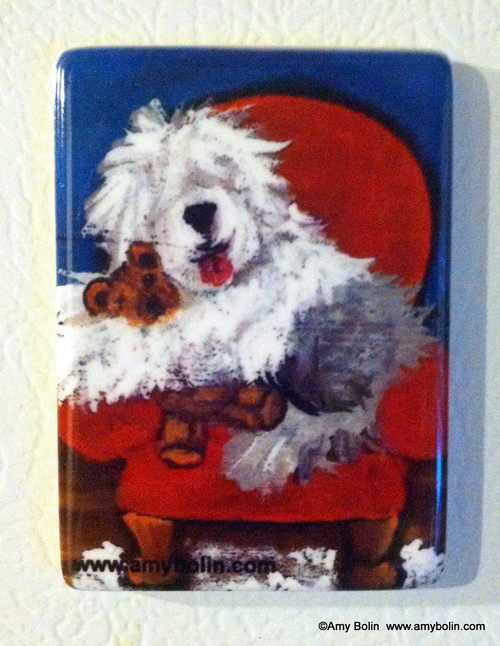 """Just Me & Ted"" Old English Sheepdog Magnet"