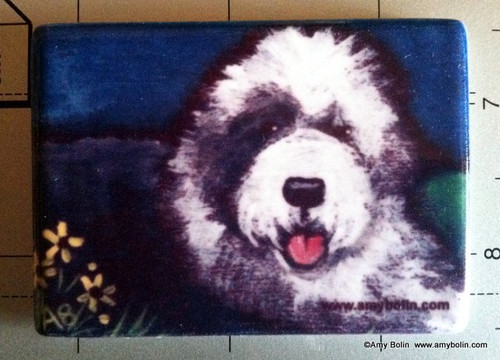 """""""Toby"""" Old English Sheepdog Magnet"""