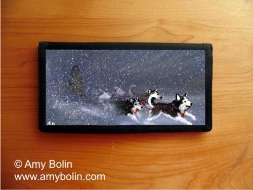 """Mush"" Siberian Husky Checkbook Cover"