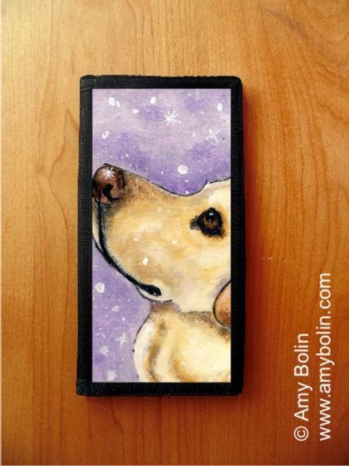 """Wish Upon A Snowflake"" Yellow Labrador Retriever Checkbook Cover"